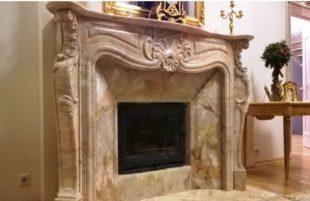 Портал для камина из мрамора: особенности оформления