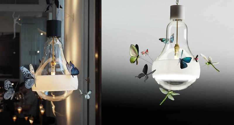 лампа с бабочками