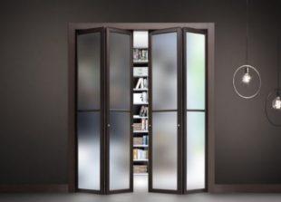 Разновидности складных межкомнатных дверей