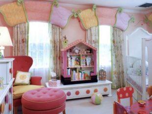 Ламбрекены для детской комнаты девочки + фото