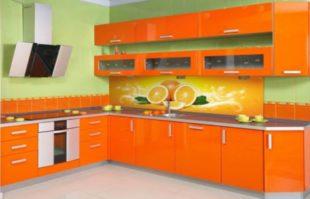 Какие обои подойдут к оранжевой кухне