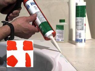 Как аккуратно нанести силиконовый герметик