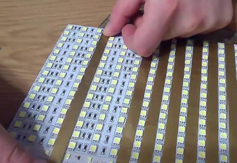 для скрепления светодиодной ленты в единую цепь