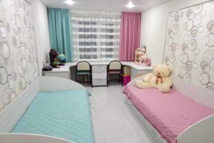Комбинированные обои для детской комнаты разнополых детей