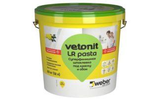 Шпаклевка Weber Vetonit LR: расход, отзывы, свойства