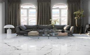 Керамическая плитка под мрамор, дизайн + фото