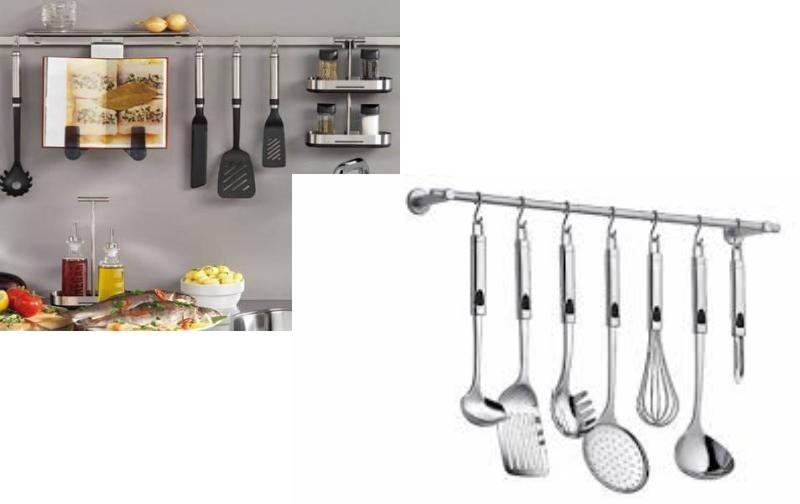 Кухонные рейлинги и навесные аксессуары: виды, применение