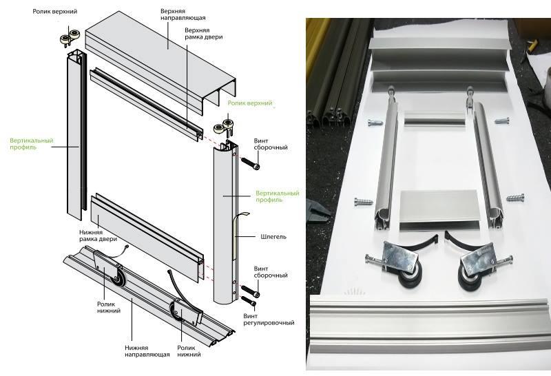 чертеж и схема двери