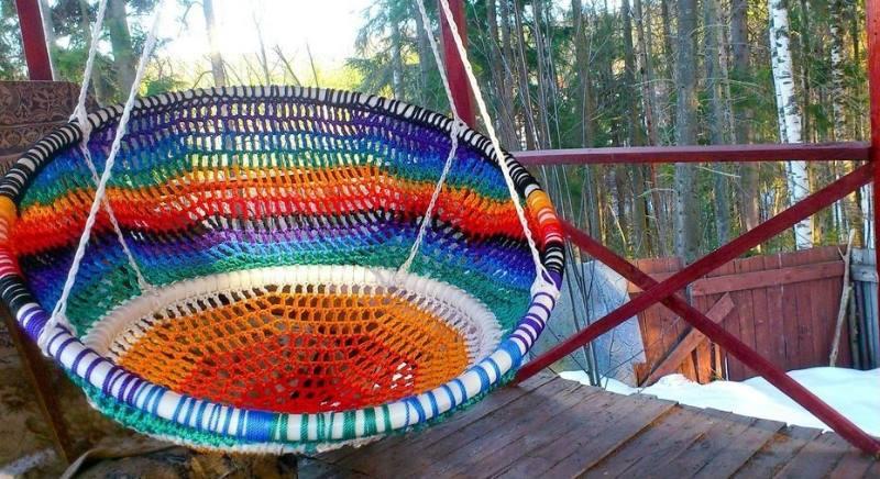 цветные веревки для кресла