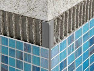 Алюминиевый профиль для плитки в ванную комнату