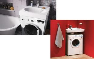Раковина над стиральной машинкой: разновидности, материалы изготовления