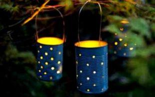 Уличные светильники из подручных материалов своими руками