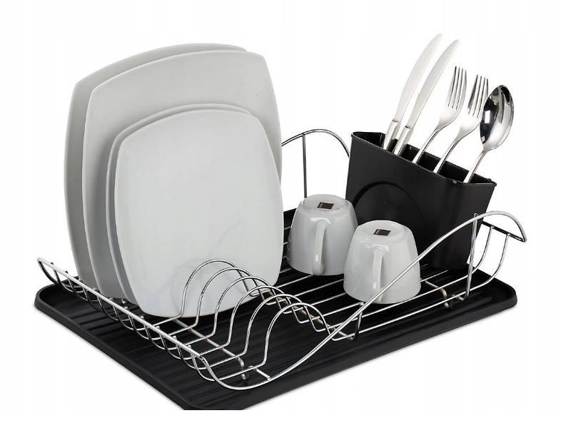 Сушилка для посуды и столовых приборов с поддоном