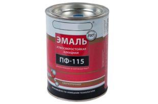 Эмаль ПФ-115: технические характеристики, свойства и для чего применяется