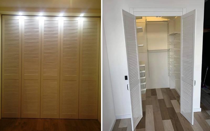 Шкаф с дверцами в виде настоящих жалюзи