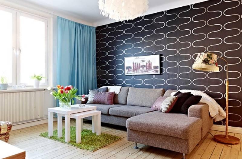 Применение черных обоев в интерьере дома- идеи