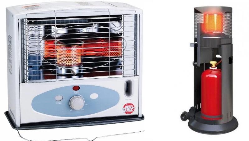 2 вида газовых нагревателей