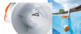 Модель имеет особую подвеску, которая закрепляется на стенку бассейна