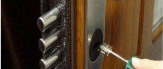 фото замка с торца двери