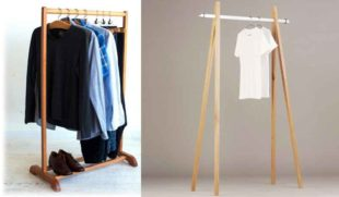 Изготовление напольной вешалки для одежды: пошаговая инструкция, фото