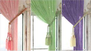Нитяные шторы в интерьере – что это и преимущества использования
